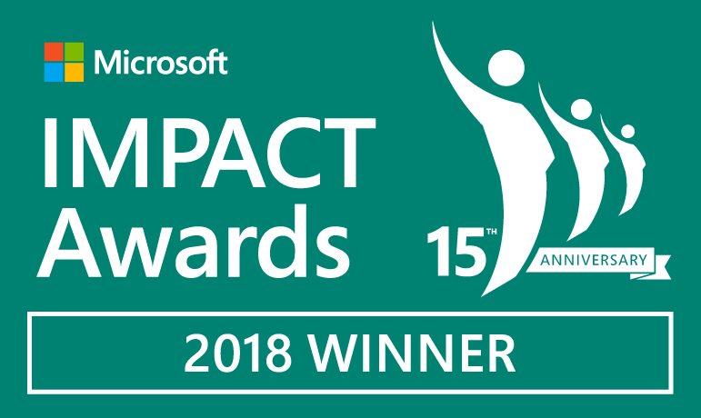 2018 Microsoft Modern Marketing Innovation Award Winner
