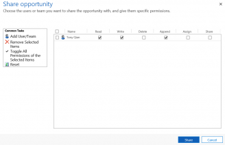 Sharing pic 6 Dynamics 365: Share and Share Alike